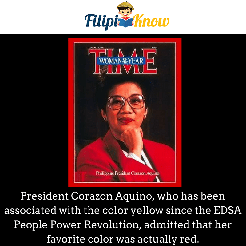 President Cory Aquino favorite color