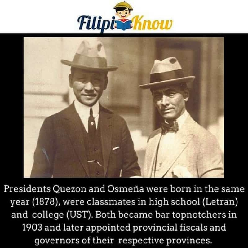 manuel quezon and sergio osmena inseparable philippine presidents