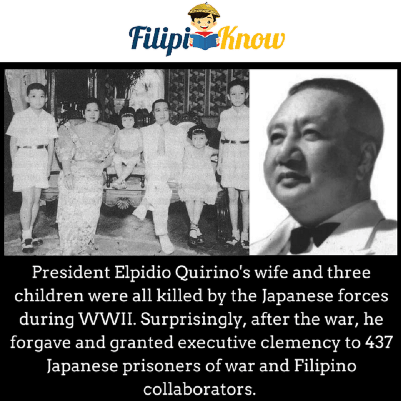president elpidio quirino family killed by japanese