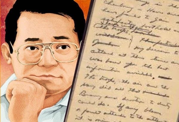 Ninoy Aquino undelivered historical speech