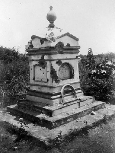 Monument in front of Fort San Antonio abad, Malate, Manila, Philippines 1899