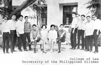 miriam defensor santiago at up college of law