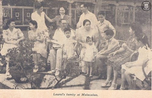 Laurel family at Malacañan Palace