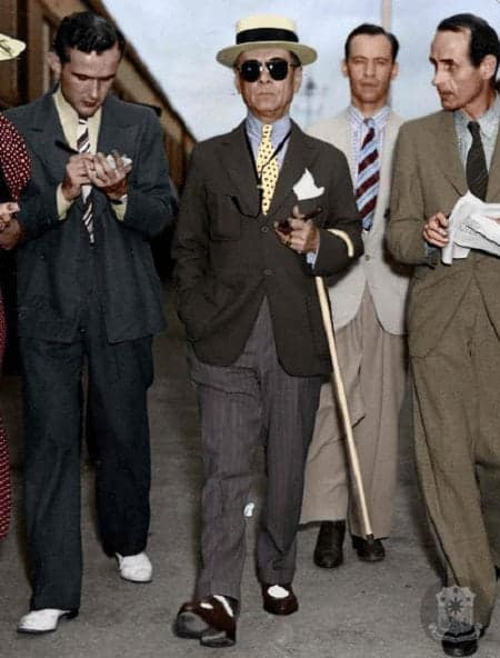 President Manuel Quezon colorized photo