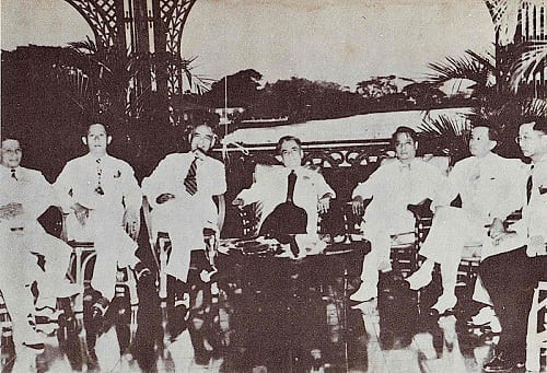 The Quezon Cabinet in the Pasig River