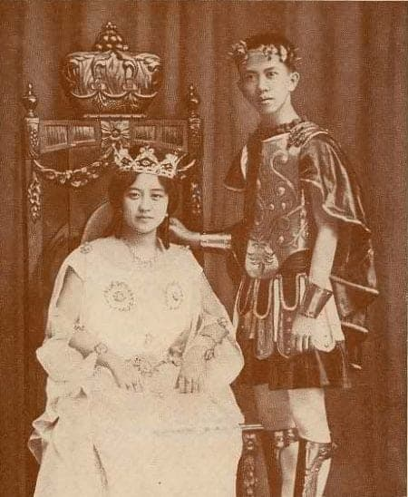 Carlos P. Romulo as consort to Virginia Llamas, crowned Queen of the Philippine Carnival