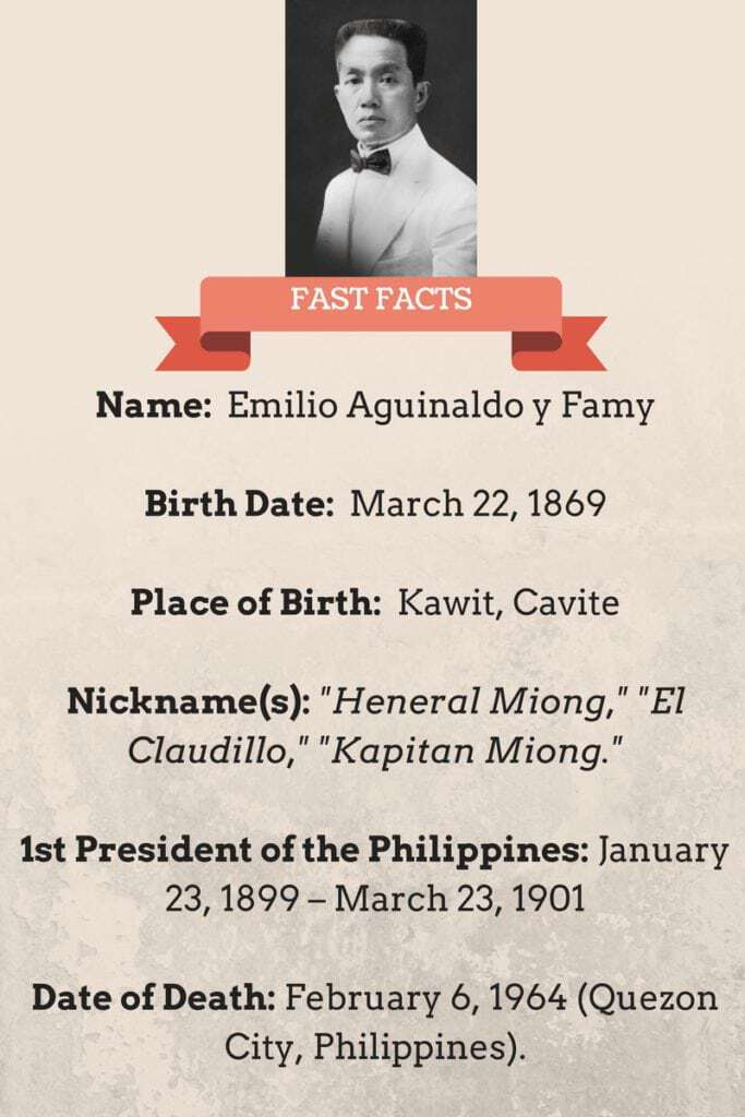 Interesting Facts About Emilio Aguinaldo