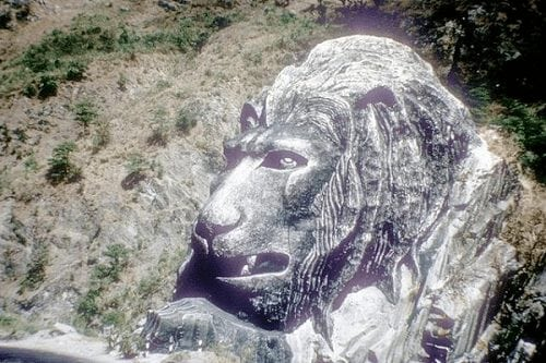 baguio's famous lion's head in 1973