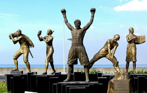 manny pacquiao statue