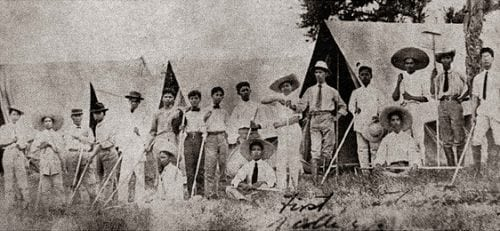 The first classes of UPLB College of Agriculture were held in tents