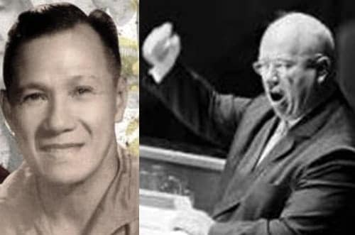Lorenzo Sumulong and Nikita Khrushchev in Shoe Banging Incident