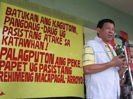 Rodrigo Duterte for president