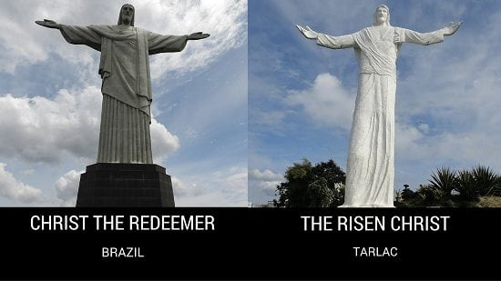 Christ The Redeemer in Brazil and The Risen Christ in Tarlac