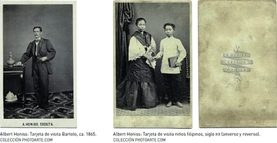 1860s visiting cards by Albert Honiss
