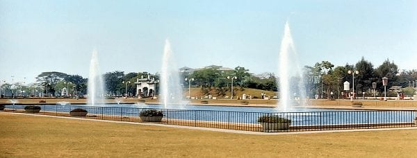 Fountain in Rizal Park, late 1960s