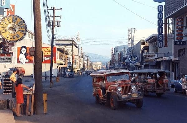 Just south of the intersection of Rizal Ave. and Magsaysay Dr., Olongapo, late 1960s.