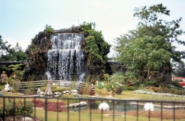 Pond with waterfall, Rizal Park, late 1960s