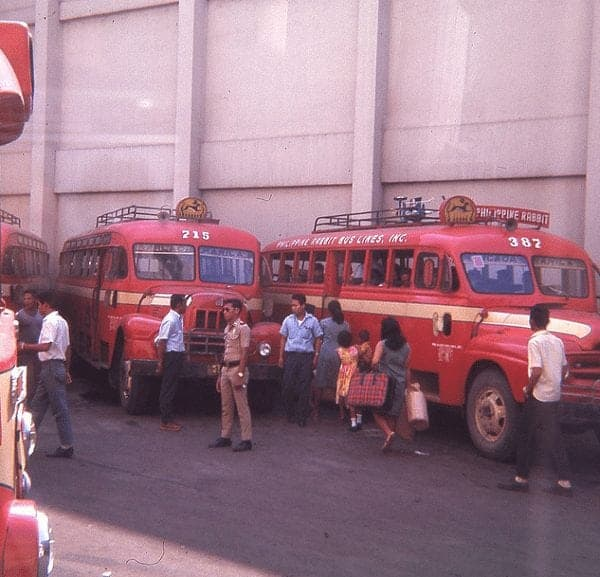 Rabbit Bus Station, Quiapo, Manila, late 1960s