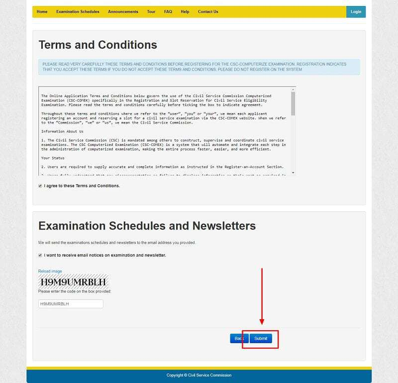 COMEX account registration terms and conditions