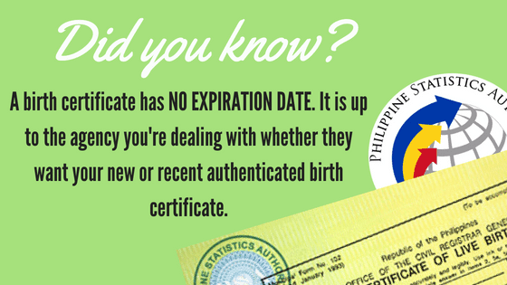 birth certificate validity