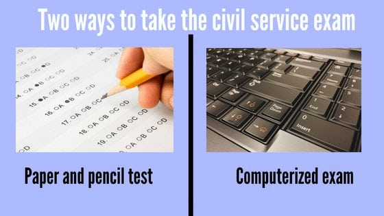 difference between civil service exam paper and pencil test and computerized exam