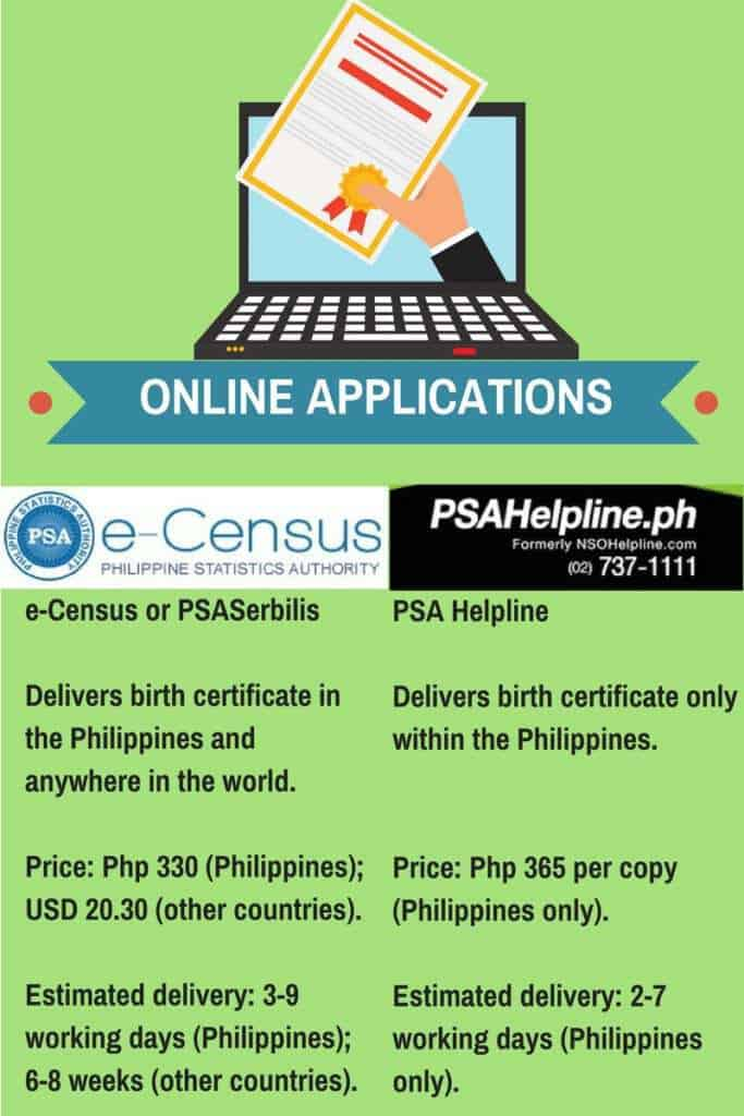how to get birth certificate online application