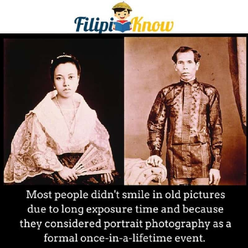 Why didn't Filipinos smile in old photos