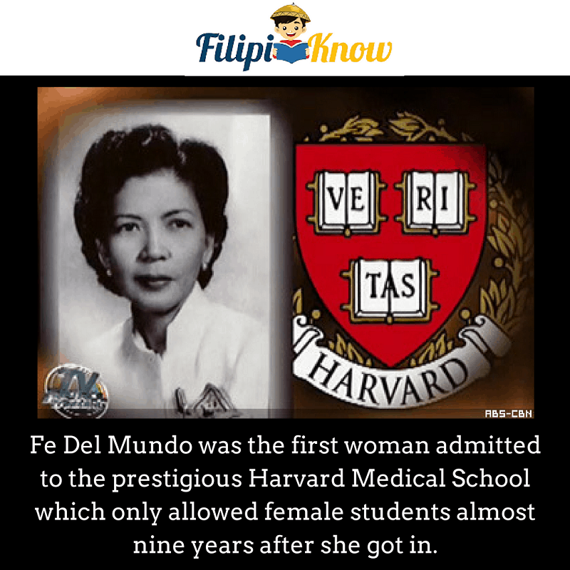 fe del mundo first woman in harvard medical school