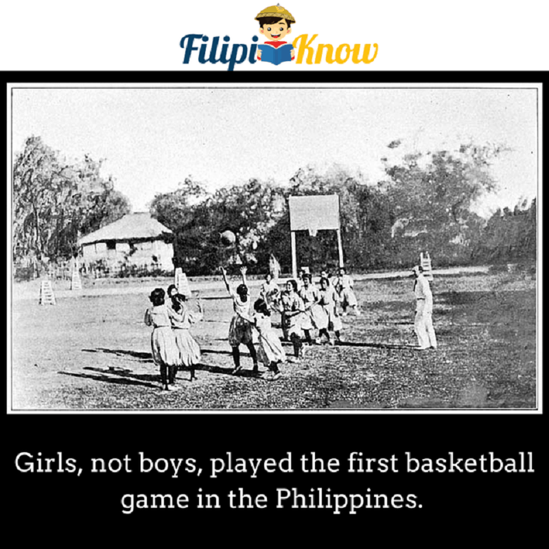 first basketball game in the Philippines was played by girls