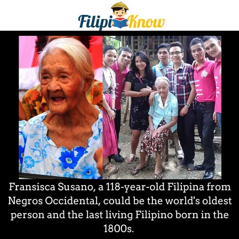 francisca susano oldest person in the Philippines