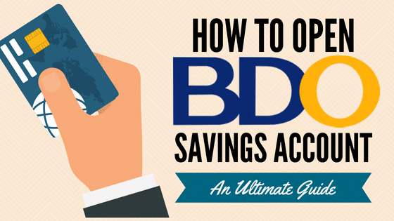 how to open a bdo savings account in the philippines