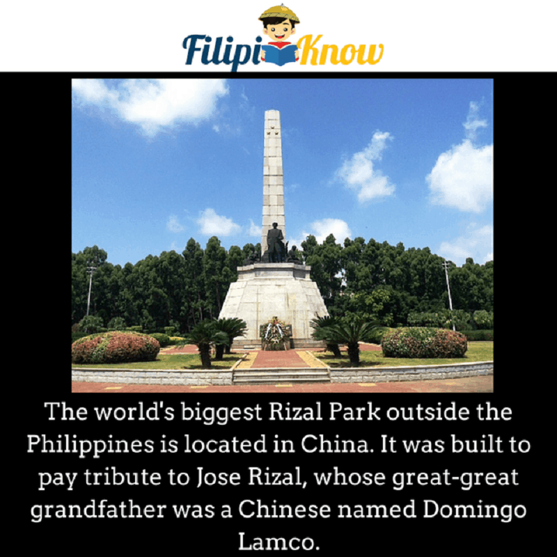 rizal park in china
