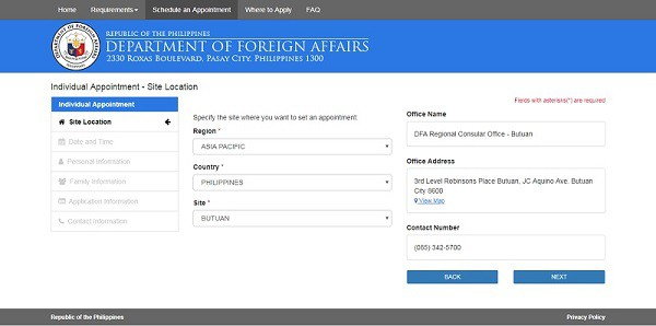 philippine-passport-appointment-site-location