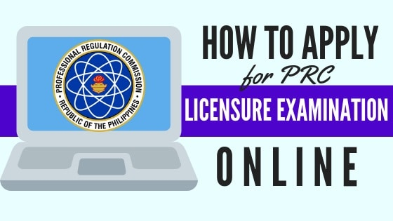 prc online application for licensure examination