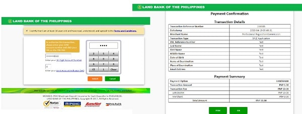 prc online application landbank