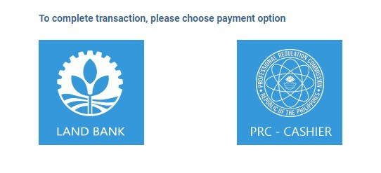 prc online application payment