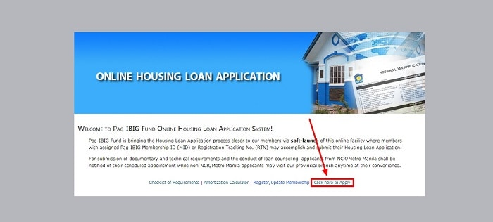 Pag IBIG Online Housing Loan Application (OHLA)