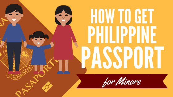 how to get philippine passport for minor