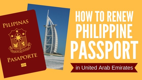 how to renew philippine passport in uae or united arab emirates