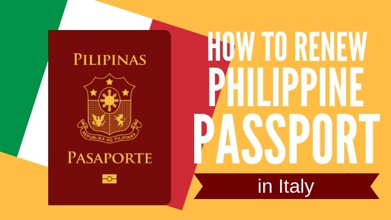 philippine passport renewal in italy for ofws and filipino immigrants