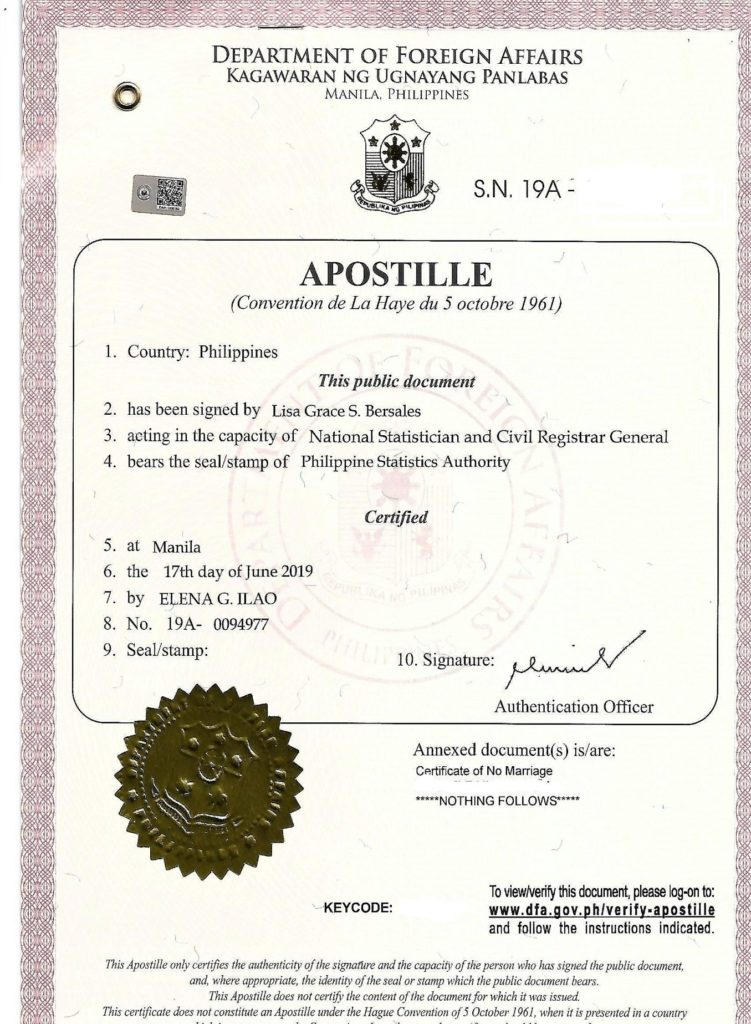 apostille philippines sample
