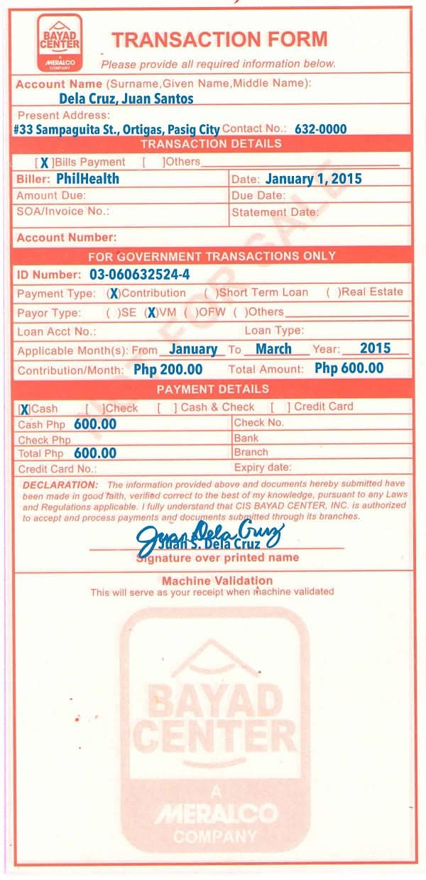 how to pay philhealth contribution 4