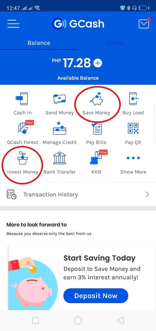 gcash save and invest money