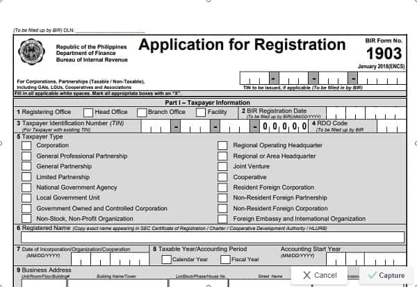 bir form 1903 sample