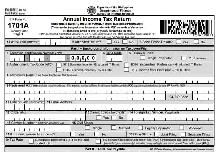 income tax return 5
