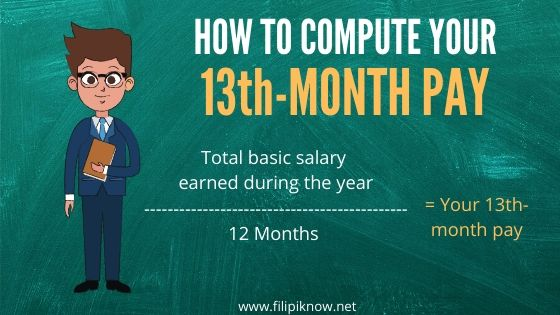 how to compute 13th month pay 1