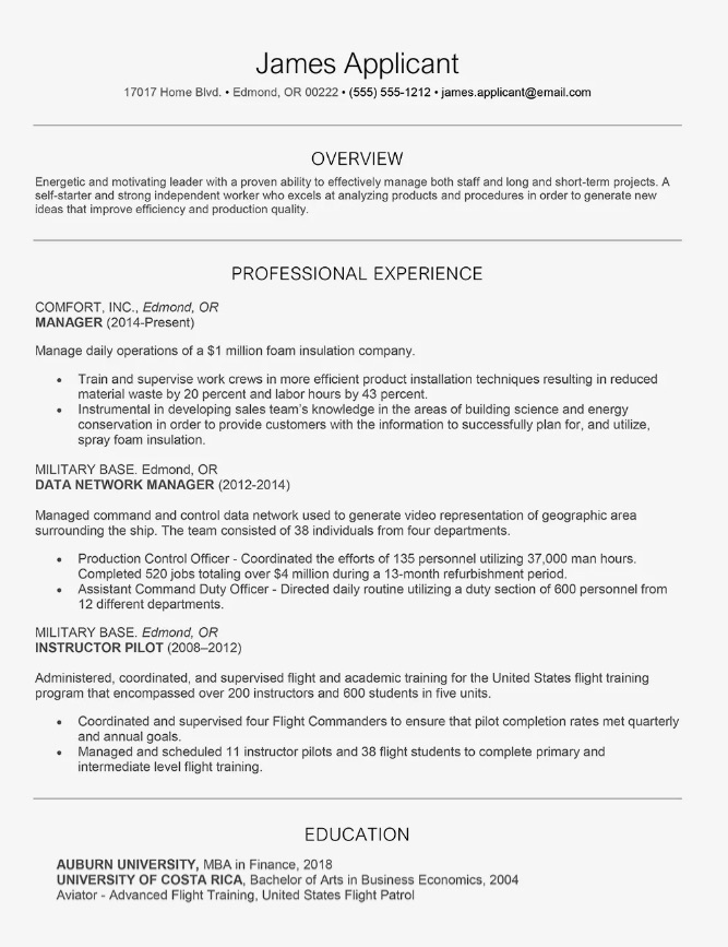 resume sample philippines 1
