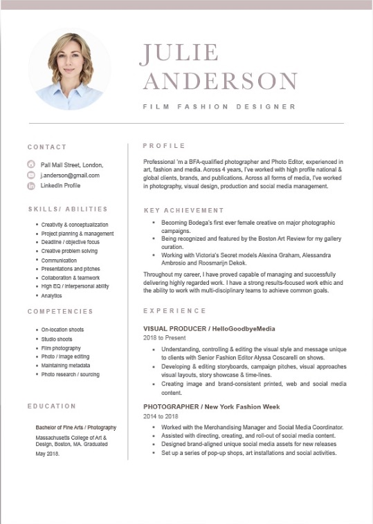 resume sample philippines 2