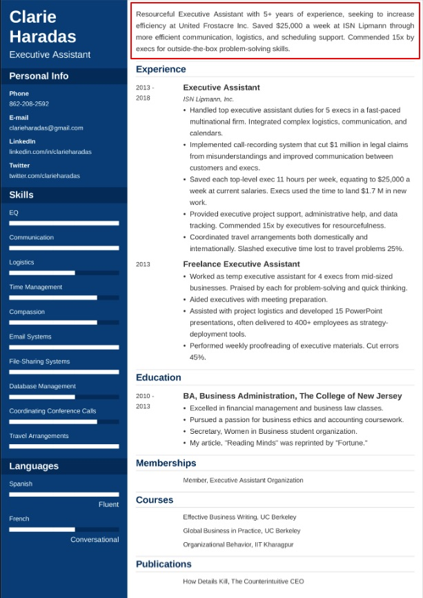 resume sample philippines 8