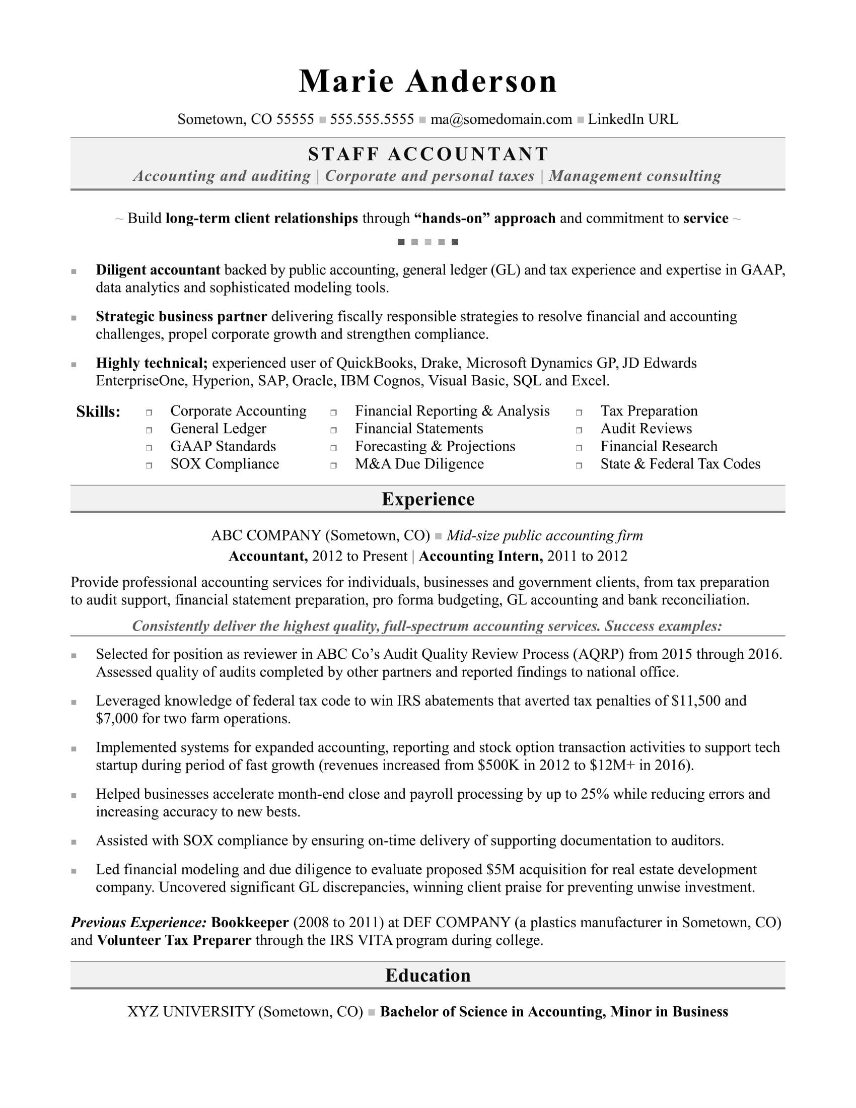 resume samples for accountant in the philippines